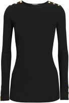 Balmain Embellished Wool And Cashmere-blend Sweater - Black