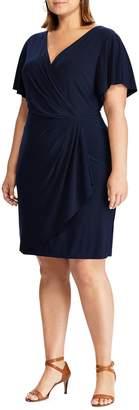 Chaps Pleated Jersey Sheath Dress