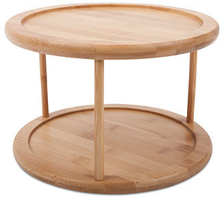 Lazy Susan Core Bamboo Lazy Susan, Two Tier