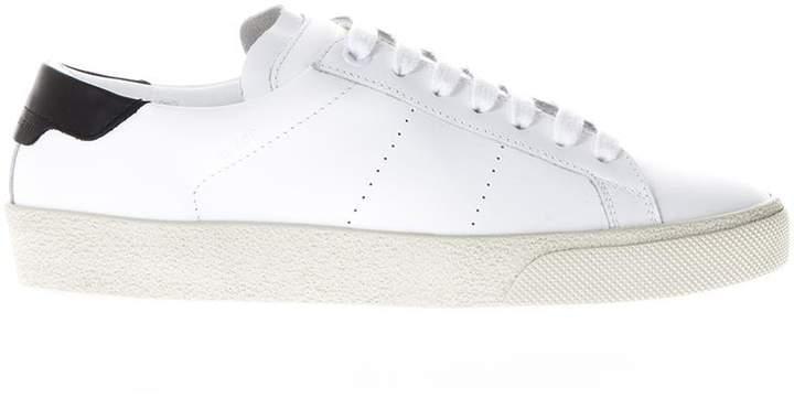 Saint Laurent White Sl/06 Classic Court Sneakers