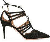 Aquazzura 'Roma' pumps - women - Leather/Suede - 37