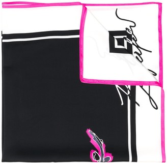 Karl Lagerfeld Paris K/Signature orchid print scarf