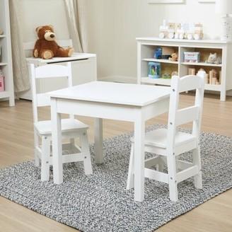 Melissa & Doug Kids 3 Piece Writing Table and Chair Set Color: White
