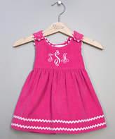 Princess Linens Hot Pink Corduroy Monogram Jumper - Infant