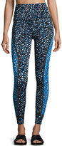 Beyond Yoga Lux Droplets Print Ladder Midi Legging, Blue
