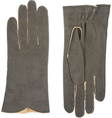 Barneys New York Women's Deerskin Gloves-GREY