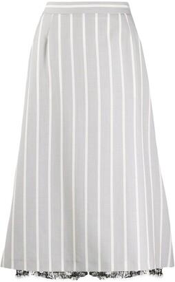 Thom Browne vertical-stripe A-line skirt