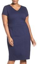 Sejour Plus Size Women's Ponte Sheath Dress