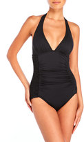 DKNY Halter Maillot One-Piece Swimsuit
