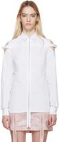 Hood by Air White Poplin Cut-Out Shirt