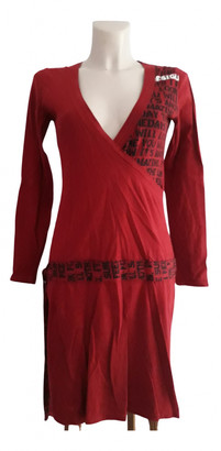 Desigual Red Cotton Dress for Women