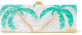 Edie Parker Flavia Palms Acrylic Box Clutch - White