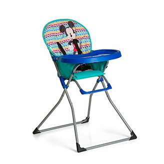 Disney Hauck Mac Baby, Toddler Highchair from 6 Months to 15 kg, Food Tray with Cup Moulding, Folding Chair, Mickey Geo Blue