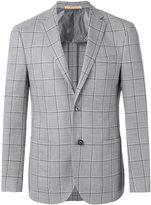 Corneliani checked button front blazer