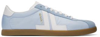 Lanvin Blue Dual-Material JL Sneakers