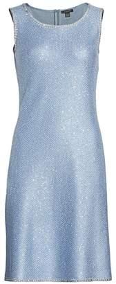 St. John Luxe Sequin Knit A-Line Dress