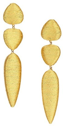 Rebecca De Ravenel Jacaranda 3-Drop Linear Clip-On Earrings