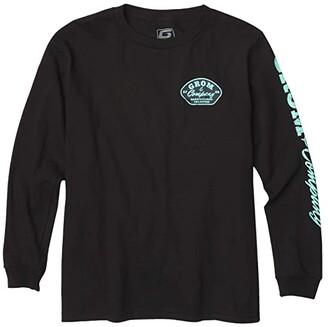 GROM Kids Company T-Shirt Long Sleeve (Little Kids/Big Kids) (Black) Boy's Clothing
