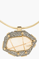 Lanvin Hammered Gold and Crystal bolo tie
