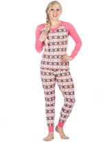 Noble Mount Women's Knit Sleep/Lounge Set (Juniors) - Fairisle Grey/Pink