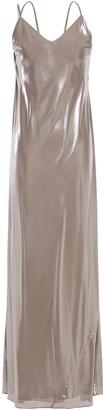 Mason by Michelle Mason Cutout Draped Lame Gown