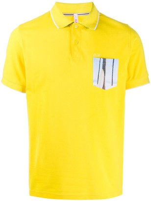 Sun 68 Graphic-Print Polo Shirt