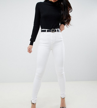 Asos Tall ASOS DESIGN Tall Ridley high waisted skinny jeans in optic white