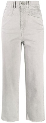 Isabel Marant Cropped High-Waisted Straight-Leg Jeans