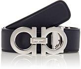 Salvatore Ferragamo Men's Double Gancini Reversible Belt-NAVY