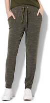 New York & Co. Drawstring-Tie Jogger - Heathered Olive