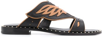 Ash Papaya eagle-shaped trimmed sandals
