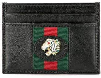 Gucci Web stripe card holder
