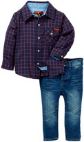 7 For All Mankind Flannel & Jean 2-Piece Set (Baby Boys)