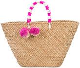 Kayu pompom woven beach tote - women - Straw - One Size