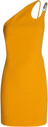 David Koma One-Shoulder Cady Mini Dress