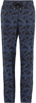 Giorgio Armani - Slim-fit Printed Matte-satin Drawstring Trousers