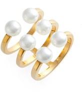 Rebecca Minkoff Open Faux Pearl Ring