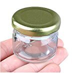 2PCS 25ml Mini Clear Glass Airtight Canister Storage Jars/Bottle/Container With Metal Cap for Storing Spices Candy Flour Sauce Sugar