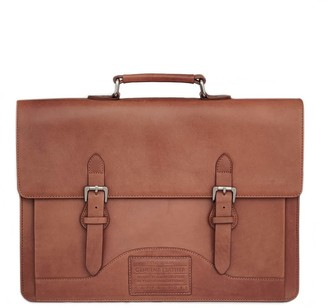 Nappa Dori Norman Laptop Bag Tan Leather