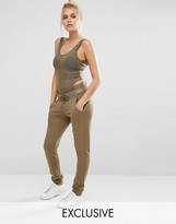 Puma Exclusive To ASOS Lounge Pants In Khaki