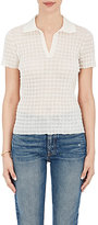 Giorgio Armani Women's Check-Textured Polo Shirt