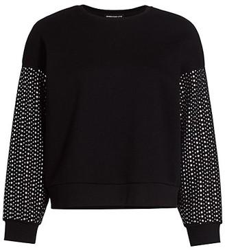 Generation Love Ariana Studded-Sleeve Sweatshirt