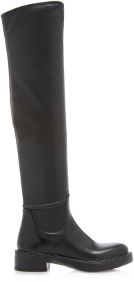 Prada Stretch-Leather Over-The-Knee Boots