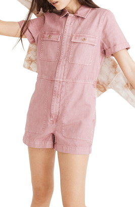 Madewell Garment Dyed Coverall Romper
