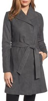 Elie Tahari Women's Jacqueline Belted Leather Trench Coat
