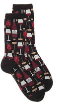 Hot Sox Women's Wine Crew Socks