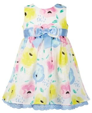 Blueberi Boulevard Baby Girls Floral-Print Dress