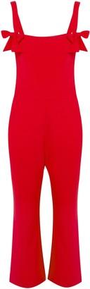 Rebecca Vallance Havana Bow-embellished Cutout Stretch-crepe Jumpsuit