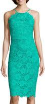Bisou Bisou Sleeveless Halter Lace Dress