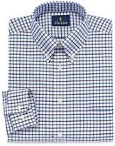 STAFFORD Stafford Travel Wrinkle-Free Oxford Long Sleeve Dress Shirt Big And Tall Long Sleeve Woven Grid Dress Shirt